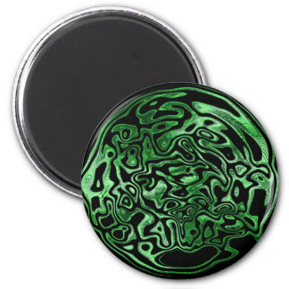 Melted Green Metallic Magnet