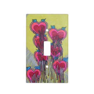Melted heart shape crayons switch plate cover