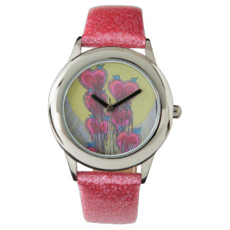 Melted heart shapes  very unique art watches