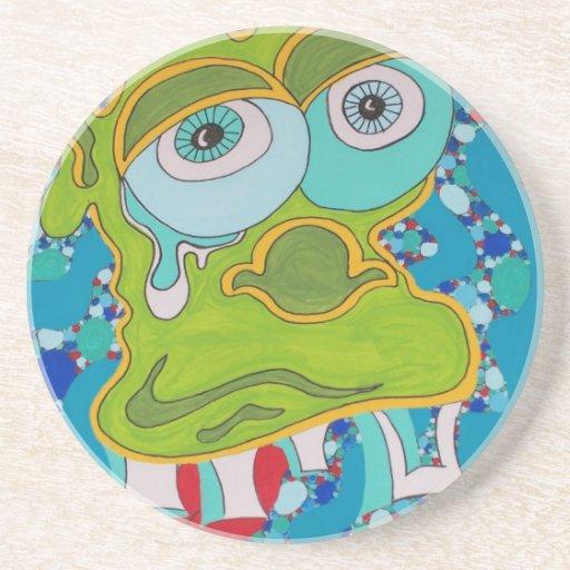 Melted Homer Sandstone Coaster