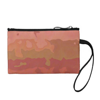 Melted Lipstick - Rosy Beige Abstract Coin Purse