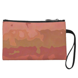 Melted Lipstick - Rosy Beige Abstract Wristlet Purse