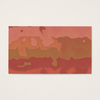 Melted Lipstick - Rosy Beige Abstract Business Card