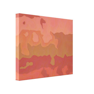 Melted Lipstick - Rosy Beige Abstract Canvas Print