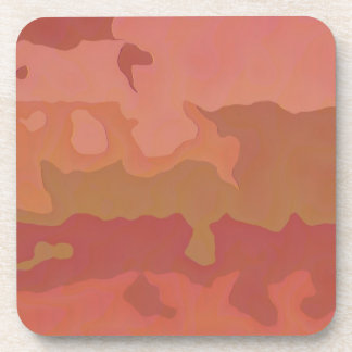 Melted Lipstick - Rosy Beige Abstract Drink Coasters