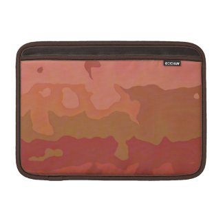 Melted Lipstick - Rosy Beige Abstract MacBook Sleeves