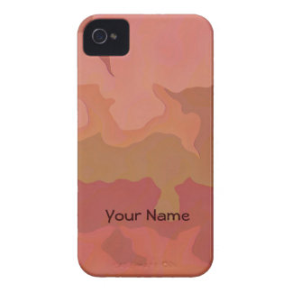 Melted Lipstick - Rosy Beige Abstract iPhone 4 Cover
