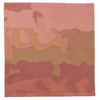Melted Lipstick - Rosy Beige Abstract Napkins