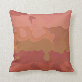 Melted Lipstick - Rosy Beige Abstract Pillow