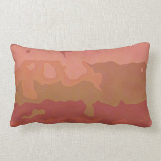 Melted Lipstick - Rosy Beige Abstract Pillows