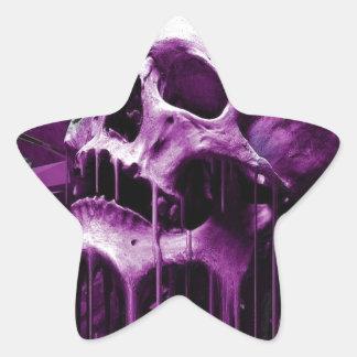 Melted Purple Skull Star Sticker