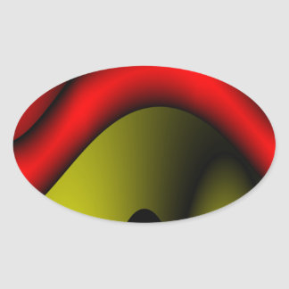 Melted Red Oval Sticker