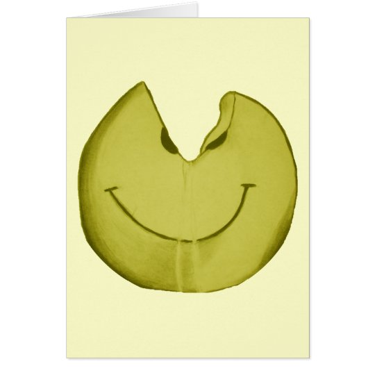 Melted Smiley Face Card