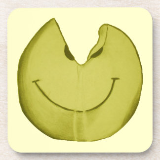 Melted Smiley Face Coaster