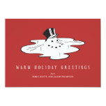 Melted Snowman - Funny Holiday Cards Custom Invites