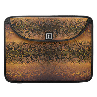 Melted Tiger - Black and Bronze Abstract MacBook Pro Sleeves