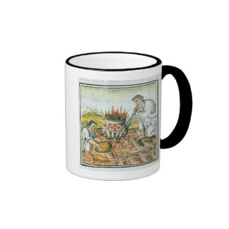 Melting and casting gold in the Aztec empire Ringer Mug