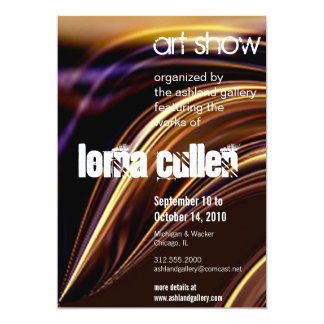 "melting art show invitation 5"" x 7"" invitation card"