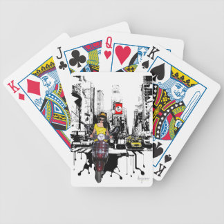 Melting Asphalt Bicycle Playing Cards