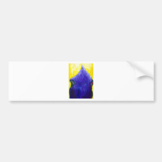 Melting Blue Pope (religious surrealism) Bumper Sticker