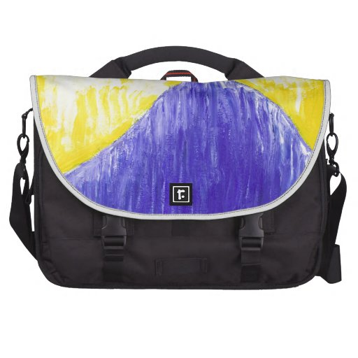 Melting Blue Pope (religious surrealism) Laptop Bags