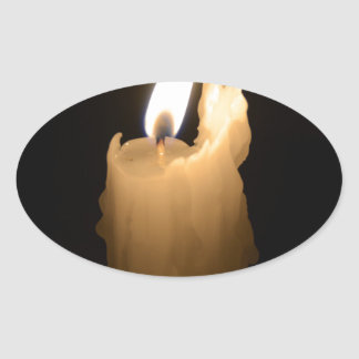 Melting Candle Oval Sticker