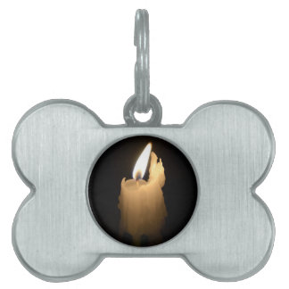 Melting Candle Pet ID Tag
