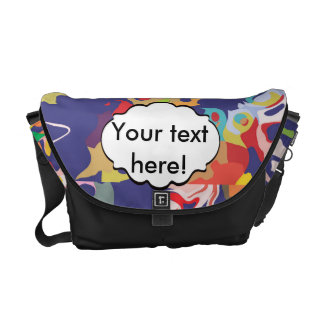 Melting colorful pieces abstract design courier bag