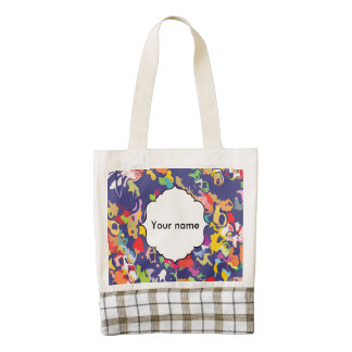 Melting colorful pieces abstract design zazzle HEART tote bag