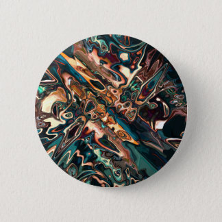 Melting Copper Abstract Pinback Button