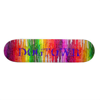 melting crayon skateboard