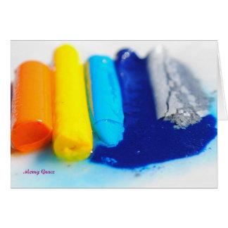 Melting Crayons Card
