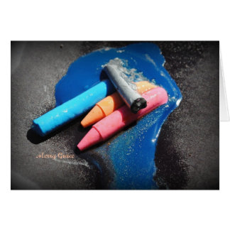 Melting Crayons Stationery Note Card