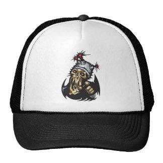 Melting Cyborg Skull Trucker Hat