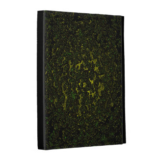 Melting dark yellow metal abstract digital pattern iPad folio covers