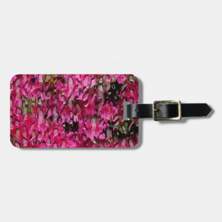 Melting Flowers Abstract Bag Tag