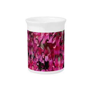 Melting Flowers Abstract Beverage Pitcher