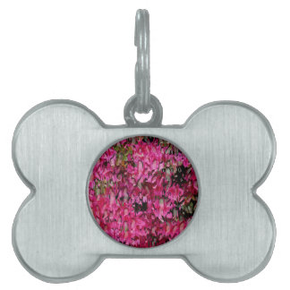 Melting Flowers Abstract Pet Tag