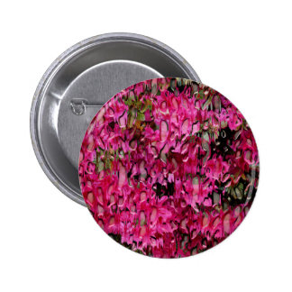 Melting Flowers Abstract Pinback Button