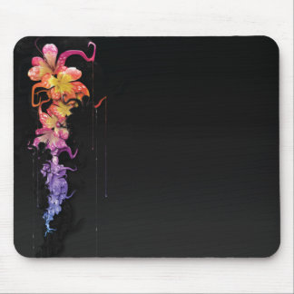 Melting Flowers Mouse Pad