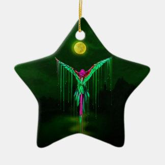Melting Flying Parrot Ceramic Ornament