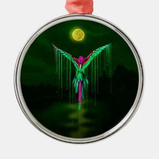 Melting Flying Parrot Metal Ornament