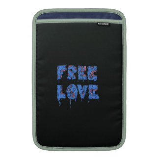 Melting free love graffiti style sleeves for MacBook air