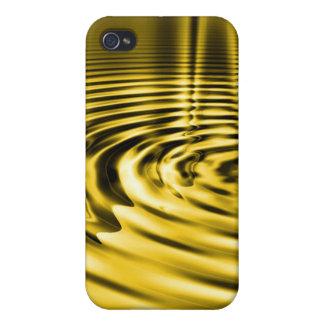 Melting Gold Ripples iPhone4 Case