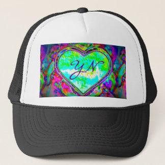 Melting Heart custom monogram Trucker Hat