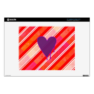 Melting Heart Purple Decal For Laptop