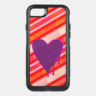 Melting Heart Purple OtterBox Commuter iPhone 7 Case