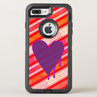 Melting Heart Purple OtterBox Defender iPhone 7 Plus Case