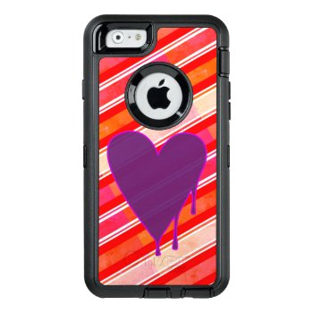 Melting Heart Purple Otterbox Defender Iphone Case by Rage_Case at Zazzle