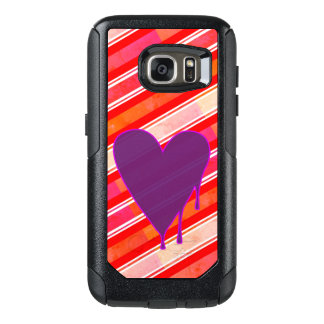 Melting Heart Purple OtterBox Samsung Galaxy S7 Case